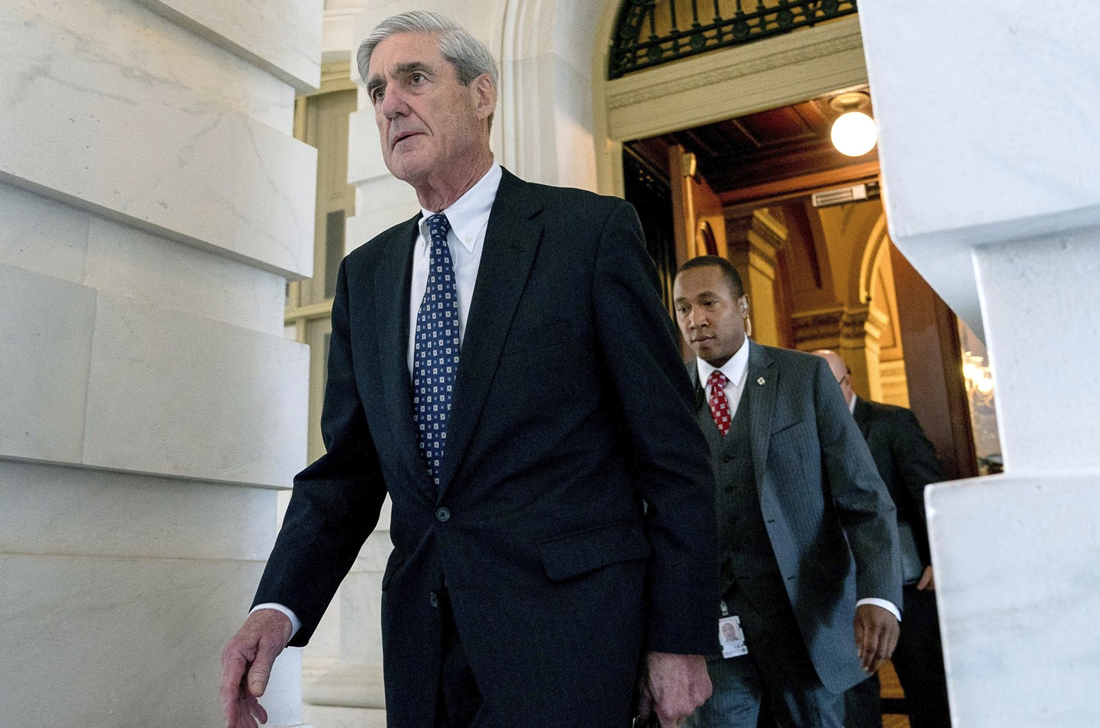 Special counsel Robert S. Mueller III was unable to clear President Trump of attempting to illegally interfere with the government's Russia investigation. — Photograph: Andrew Harnik/Associated Press.